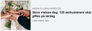 60 par skal vies i Aarhus Kommune på den særlige dato 10.10.2020