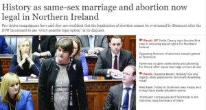 History as same-sex marriage and abortion now legal in Northern Ireland