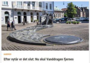 Torvenes Brøndsløjfe - i daglig tale Vanddragen - skal køres i depot. Det er et flertal i byrådet nu enige om. Foto: Axel Schütt