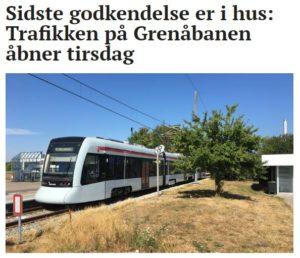 Sidste godkendelse er i hus: Trafikken på Grenåbanen åbner tirsdag AF: HENRIK LUND Publiceret 25. april 2019 kl. 09:45
