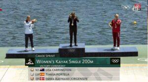 Emma Aastrand Jørgensen, k1, 200m kajak bronze