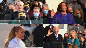 Lady Gaga, Kamala Harris, JLo, Biden