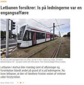 26.nov 2018: Letbanen forsikrer: Is på ledningerne var en engangsaffære