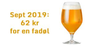Seot 2019 - 62 kr for en stor fadøl