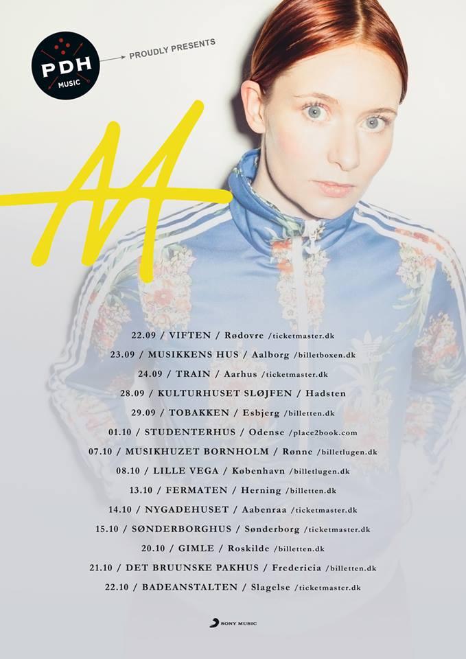 Annika Aakjær - touren fortsætter i følgende byer 2016
