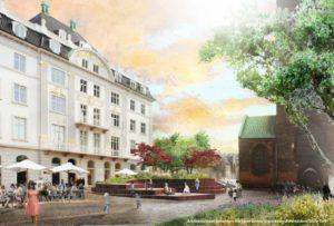 Arkitektfirmaet Schønherr har lavet denne illustration af fremtidens Store Torv.