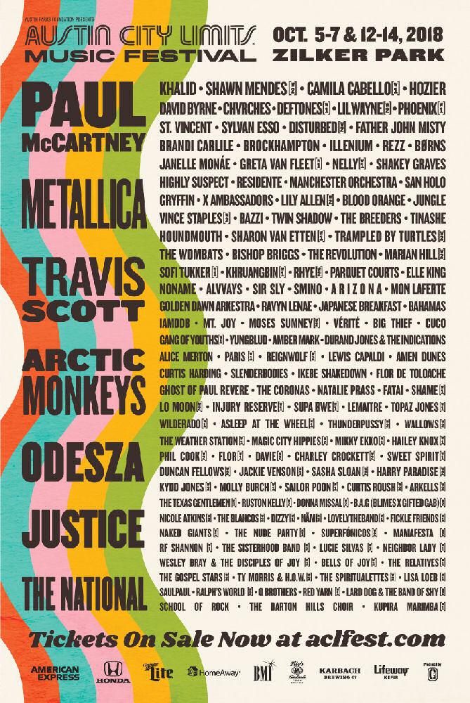 Austin City Limits Music Festival 2018