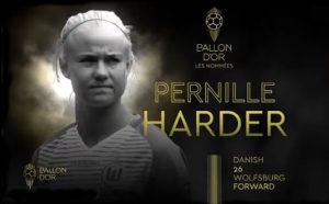 Pernille Harder nomineret til Ballon d'Or feminin 2019