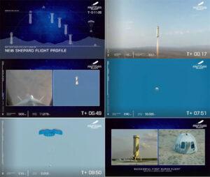 Blue Origins New Shepard 20.juli 2021
