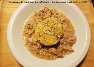 Enebærgryde med bagt kartoffelmos - fra Karolines Køkken 2. // 1983