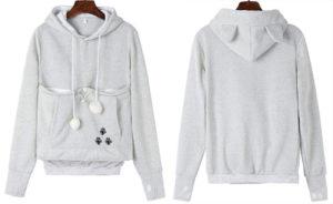 Fleece kangaroo pouch hoodie
