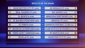 Lodtrækning til 16.delsfinalerne