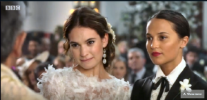 Lily James og Alicia Vikander // Comic Relief 2019: One Red Nose Day and a Wedding