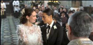 Lily James og Alicia Vikander - præsten er selvfølgelig Father Gerald (Rowan Atkinson) // Comic Relief 2019: One Red Nose Day and a Wedding
