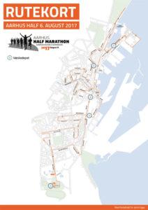 Løbsrute Aarhus Half Marathon 2017