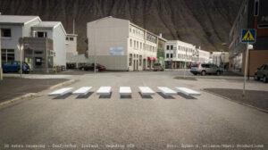 3D zebra crossing - Ísafjörður, Iceland - Vegmálun GÍH // Foto: Ágúst G. Atlason/Gústi Productions // 2017