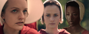 The-Handmaids-Tale - Elisabeth Moss as June Osborne / Offred - Alexis Bledel as Emily / Ofglen / Ofsteven - Samira Wiley as Moira
