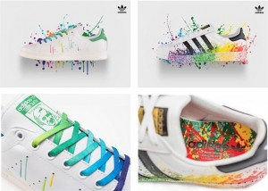 adidas Originals celebrates LGBT Pride this month with the release of a limited-edition footwear series- The Pride Pack.