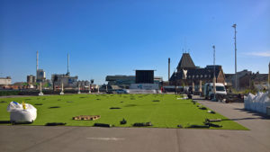 Ingen fest uden kunst rullegræs - Den Nye Havneplads