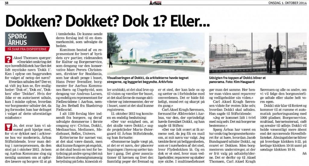 Spørg Århus // Århus Onsdag den 01.okt 2014