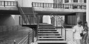 Sådan kommer den nye Trappe ved Skt. Clemens Bro til at se ud. Visualisering: E+N Arkitektur A/S