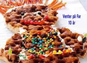 Brunsvigerkagemand i anledning af Venter på Fars 10 års fødselsdag