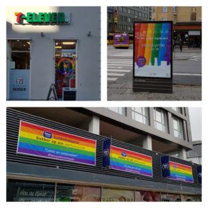 Aarhus pyntes til Aarhus Pride lørdag den 01.juni 2019