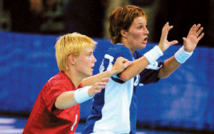 camilla-andersen-mia-hundvin - første gifte homopar til OL i sydney 2000