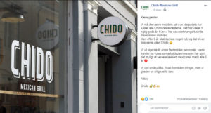 Chido Mexican Grill er lukket