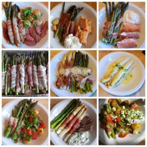Udvalgte aspargesretter fra 24.april frem til i dag ...