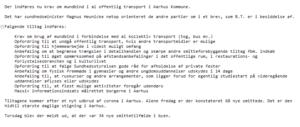 07082020 - nye corona tiltag i Aarhus - Kilde: Mail fra Sundheds- og Ældreministeriet til sundhedsordførerne.