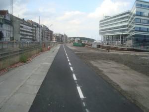 cykelsti ved Navitas set fra Skolebakken