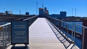 Der er plads til 500 på plateauet og 150 på promenadebroen