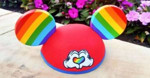 "Mickey Mouse Rainbow Love"" hat"