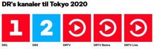 DRs kanaler under OL i Tokyo
