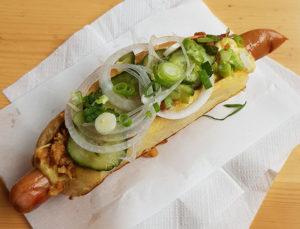 dagens hotdog hos Else Pelses HotdogBix i Garagen