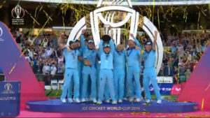 England win their first men's Cricket World Cup in dramatic finale against New Zealand