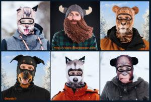 Beard Hats ~ The Beardo® Animal Ski Mask Project
