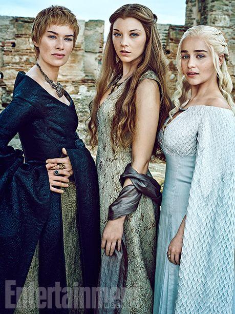 Lena Headey as Cersei Lannister, Natalie Dormer as Margaery Tyrell, Emilia Clarke as Daenerys Targaryen,