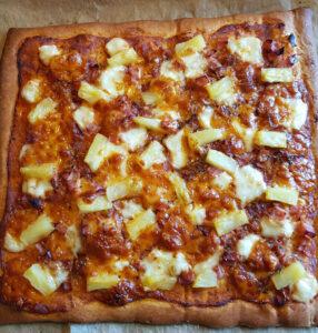 Hawaiipizza - efter