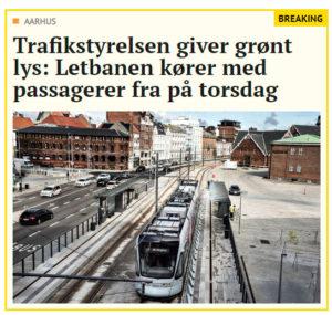 Trafikstyrelsen giver grønt lys: Letbanen kører med passagerer fra på torsdag