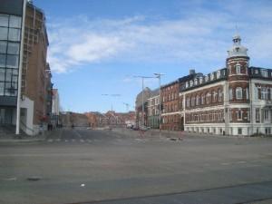 Letbane-skinnelægningen er nået til krydset Kystvejen/Nørreport/Mejlgade. Arbejdet skal foregå fra uge 12 og henover sommeren.