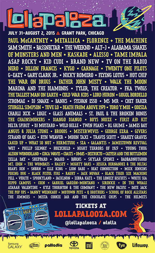 Lollapalooza Music Festival - July 31-August 2, 2015 · Grant Park, Chicago