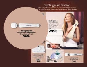 Set i Netto avisen // massageapparat med fleksibelt massagehoved 149,- // i kategorien 'søde gaver til mor'