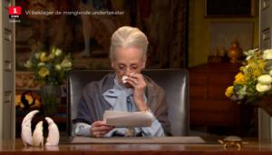 Forkølet dronning Margrethe - med sin 48. nytårstale.