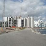 De bygger tæt ude på Pier 4