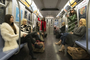 Sandra Bullock, Helena Bonham Carter, Cate Blanchett, Anne Hathaway, Sarah Paulson, Mindy Kaling, Rihanna, and Awkwafina in Ocean's 8 (2018)