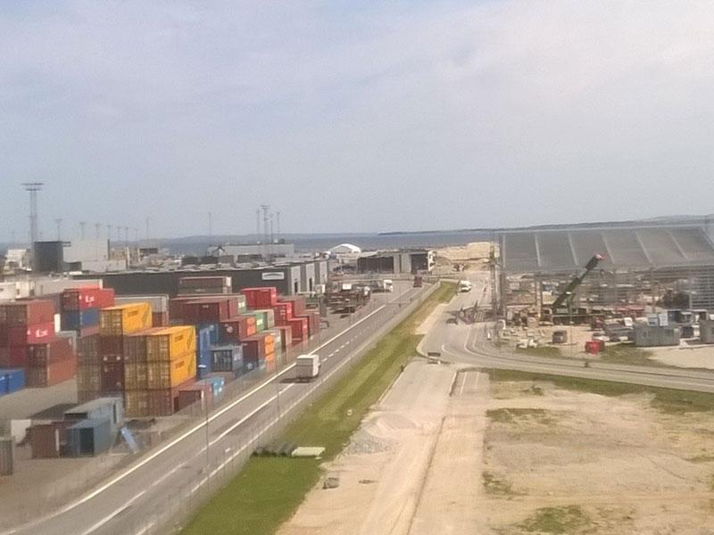 Østhavnen set fra Havnecentret - maj 2016