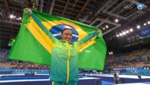 Rebeca Andrade vinder Brasiliens første guld i spring over hest