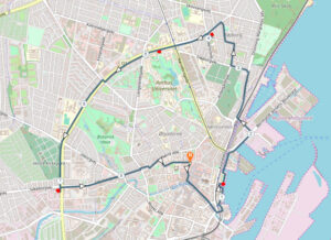 Dagens 9 km rutekort